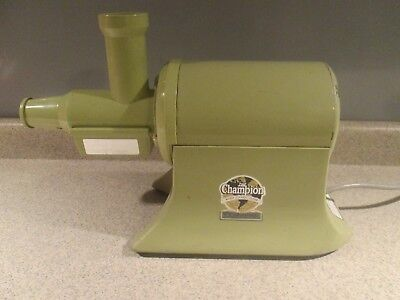 """Vtg Avovado Green Champion 'the Champion"""" Juicer Juice Extractor G5-Ng-853S"""