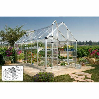 Palram Snap & Grow 6 x 12 ft. Greenhouse - Silver, 148L x 81W in.