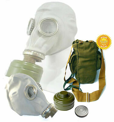 Size - 1. Small Soviet Russian Military Gas mask GP-5 New FULL SET Grey rubber