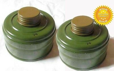 2 Charcoal Filters for Soviet Russian Military Gas mask GP-5 40mm + GEFT