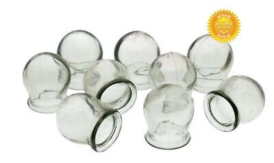 3-24 pcs USSR Glass Fire Cupping Cups Vintage Jars Health Medical Massage