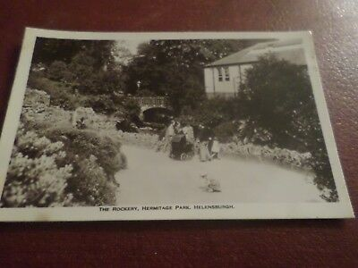 Old Real Photo Postcard The Rockery Hermitage Park Helensburgh