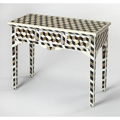 Butler Transitional Bone Inlay Rectangular Multi Color Console Table 5203318