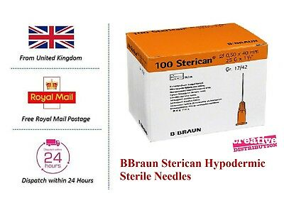 Sterican BBraun Needles Sterile Hypodermic CE Mark 21G - 30G non insulin