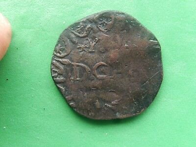 Mexico War Of Independence Coin, CHARCAS (1813) San Luis Potosi, COPPER