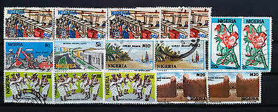 NIGERIA - 1986, 1990, 1992 - Nr. 16 Selected Used Stamps - Nigerian life ....