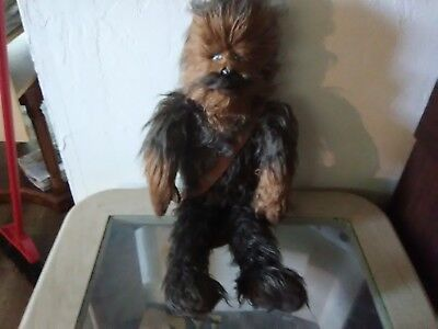"""Star Wars Furry Chewbacca The Wookie W/leather Bag 24"""" Tall"""