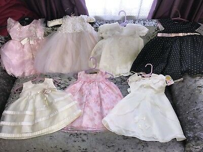 Bargain Bundle of Baby Girls Gorgeous Dresses some brand new Age 6-12 mnths