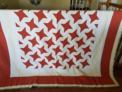 Classic Vintage FRIENDSHIP STAR Quilt - nice & cuddly condition!