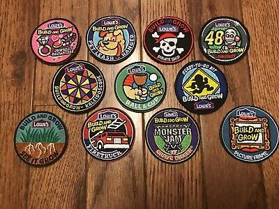 Lowe's Build and Grow Lot of 11 Sew on Patches 2""