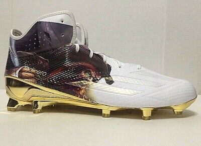 buy popular 3f3ba 5ff72 Adidas Adizero 5-Star Uncaged Pirate Football Cleats White AQ7812 Mens Size  12
