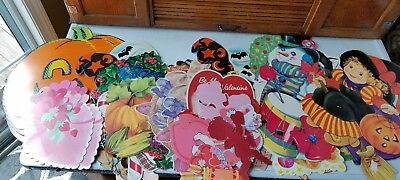 Vintage Lot Eureka Gibson Trendsetting Die Cut Holiday Decorations