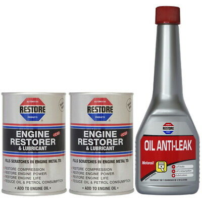 Pass MOT emissions in under 24hrs with AMETECH ENGINE RESTORE OIL & STOP LEAK