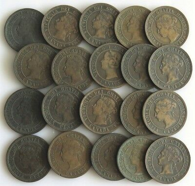 Canada Large Cent Queen Victoria Lot--Twenty Pieces (20ct) See Listing