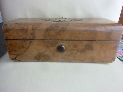 Burr Wood Jewellery Box,  Lock Has Been Forced,