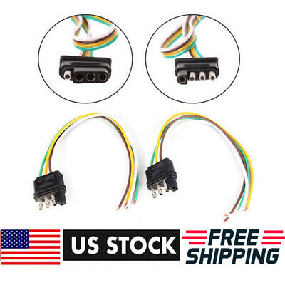 4-PIN PLUG TRAILER Light Wiring Harness Extension Flat Wire ... on wire leads, wire cap, wire clothing, wire nut, wire sleeve, wire connector, wire holder, wire ball, wire antenna, wire lamp,