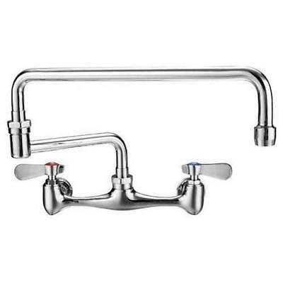 "Commercial Kitchen 8"" Center Wall-Mount Faucet with 18"" Double Jointed Spout"