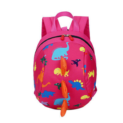 Lovely Toddler Baby Safety Harness Reins Backpack Anti-lost Dinosaur Cartoon Bag