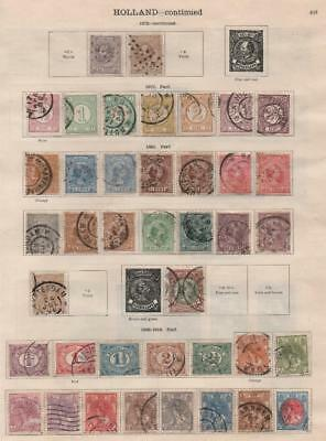 NETHERLANDS: 1872-1913 Examples - Ex-Old Time Collection - 2 Sides Page (17739)