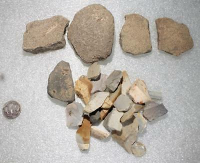 nice collection with ginding stone europe Linear pottery cultur 5000-4000 BC