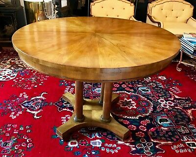 """Baker Pedestal Dining Table - 42"""" Round or Extendable to 105"""" - Rare"""