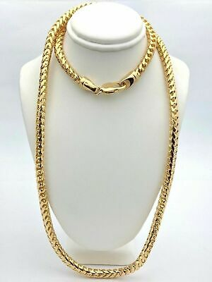 14k Solid Yellow Gold  franco chain necklace Italy 20 inch 3.50 gram #8584