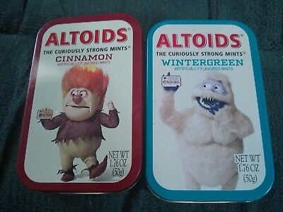 Altoids Rare Limited Edition Tins-Heat Miser Abominable Snowman OPEN-2002,2003.
