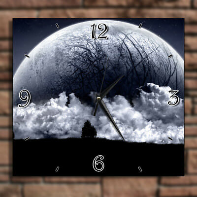 Big Large Enormous Moon Planet - Home Deco Decor Kitchen Living Room Wall Clock