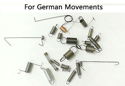 New 24 Piece Assorted Clock Springs for German or Cuckoo Clock Movements