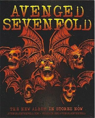 Avenged Sevenfold Self Titled (album in stores now) RARE promo sticker '07