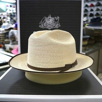 STETSON OPEN ROAD Natural Hemp Straw Dress Hat