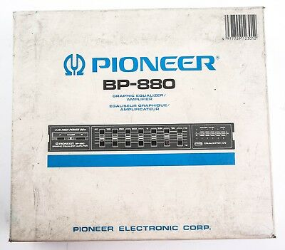 PIONEER BP-880 4-Channel High-Power Graphic Equalizer Amplifier