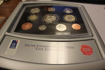 2000 United Kingdom Deluxe Proof Coin Collection 10 Pc Set