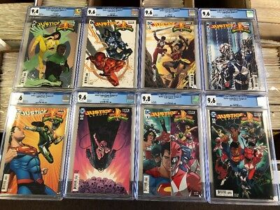 10 Lot X DC Justice League Power Rangers # 1 # 2 # 3 # 4 Variant CGC 9.6 9.8 Set