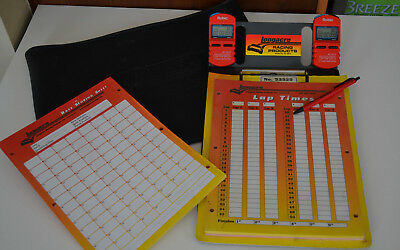 Longacre 2 Stopwatch Clipboard w/ Robic SC-507, Timing & Scoring , with Sheets