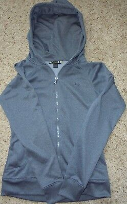 UNDER ARMOUR STORM LADIES HEATHER GRAY SWEATSHIRT HOODIE L/S, Sm