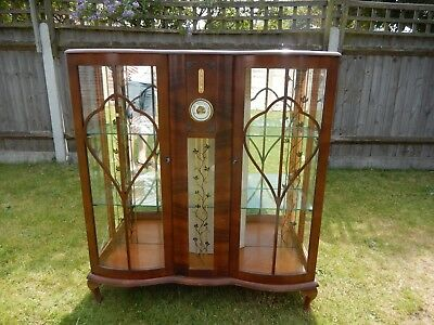 Vintage Retro 1950's 1960's Unique Display Cabinet Used with Some Faults