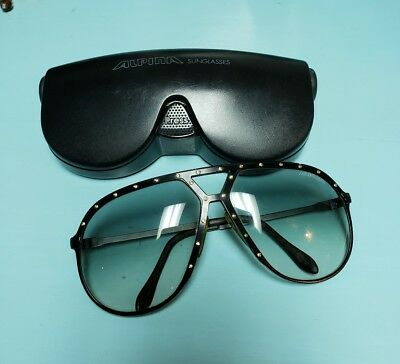 Alpina M1 Made in W Germany 64[]14 Black Vintage Aviator Sunglasses