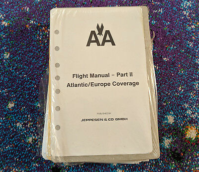 New Vintage American Airlines Collectible Flight Manual Part II Atlantic Europe