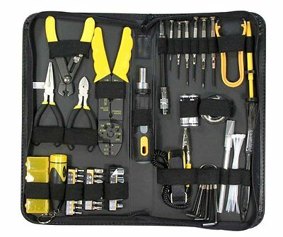 58 Piece Professional PC Computer Tech Electrician Handyman Repair DIY Tool Kit