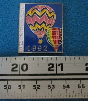 1992 Sussex N.b. Montgolfière Hot- Air Balloon Pin # 7669