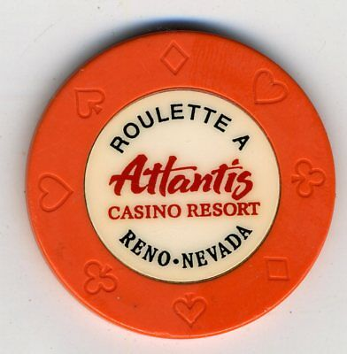 Table A roulette chip from the Atlantis Casino Resort in Reno