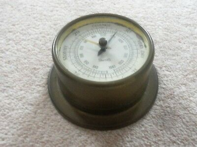 Vintage Smiths Instruments Ships Style Brass Cased Wall Hanging Barometer My #2