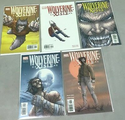 Marvel Comics Wolverine Xisle #1-5 Complete Mini Series Set Run 1 2 3 4 5