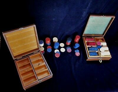 Lot of 301  Misc. Vintage Poker Chips plus 2 Lowe Cases with Trays