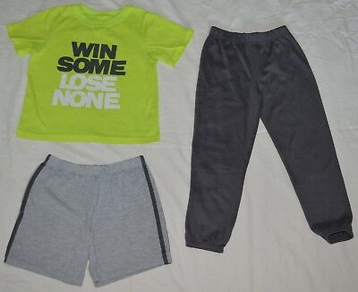 Boys Carter's Yellow Gray Win Some Lose None 3 Piece Pajama Set - Size 6