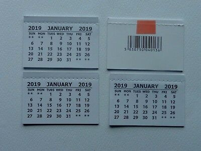 4 Mini 2019 Monthly Tear Off Calendar Pads Self Stick Back Page Is Blank Crafts