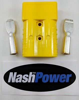 350 Amp Yellow 2/0 AWG Battery Connector Replaces Anderson SB350