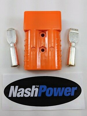 350 Amp Orange 2/0 AWG Battery Connector Replaces Anderson SB350