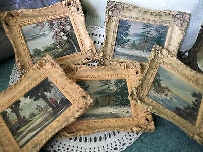 Vintage Turner Manf Comp 5 Pictures And Frames Perfect
